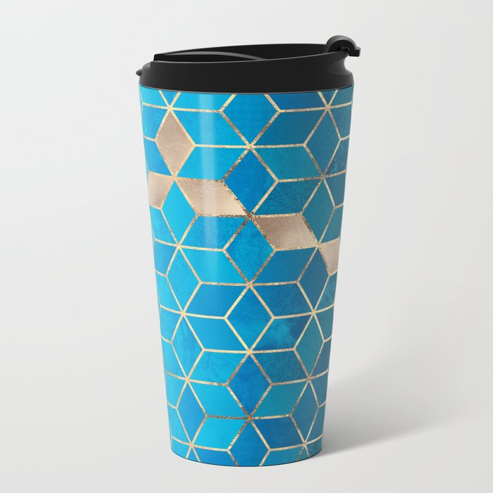 Sea And Sky Cubes (Custom Request) Metal Travel Mug