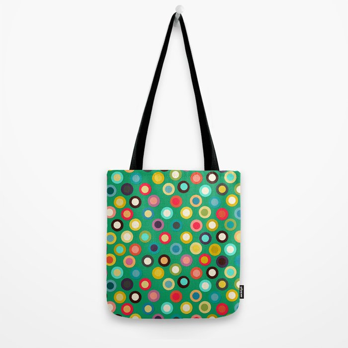 green pop spot Tote Bag
