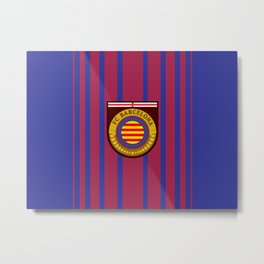 Catalonia Football Badge Metal Print