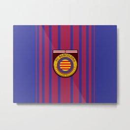 Catalonia Football Badge Metal Print