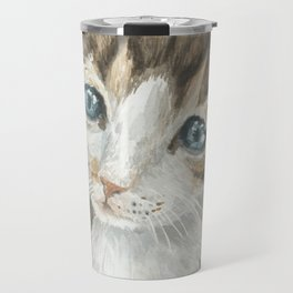 Kitten, watercolor potrait Travel Mug