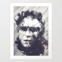 steve mcqueen Art Prints featuring Steve McQueen - The Legend by HelloFedUp