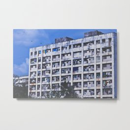 India Blue Metal Print