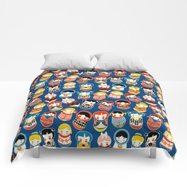 Babushka dolls vibrant pattern Comforters