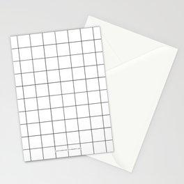 White Grid  /// www.pencilmeinstationery.com Stationery Cards