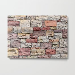 Old castle stone wall Metal Print