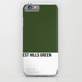 Forest Hills Green iPhone Case