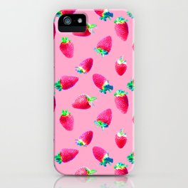 Pink Strawberry Pop iPhone Case