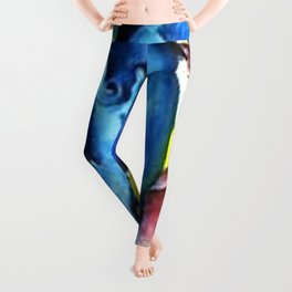Colorful Blue Horse Friesian portrait horses painting by Franz Marc Leggings