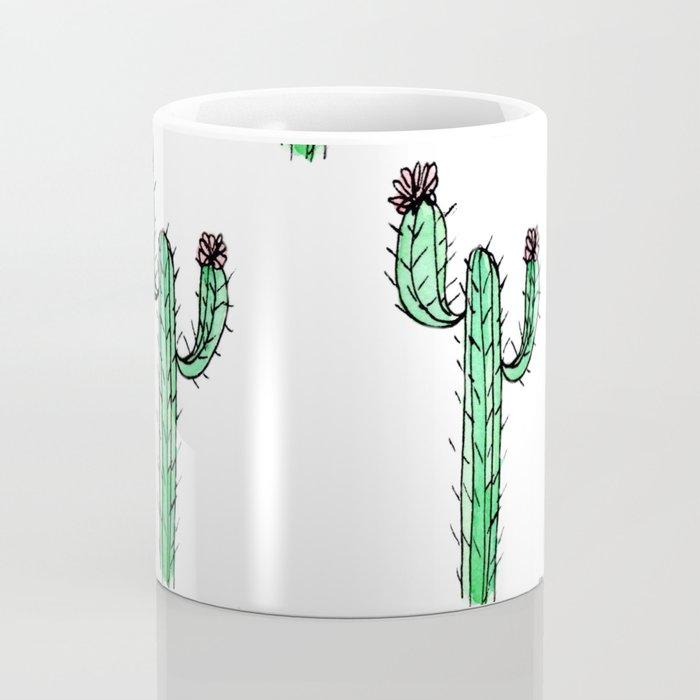 Cactus Flower II Pattern Coffee Mug