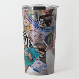 Lady's day Abstract Art Collage Contemporary Travel Mug
