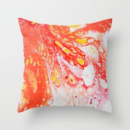 Orange Candy Coating Throw Pillow