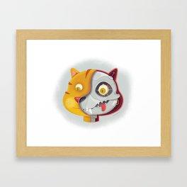 Cyborg cat Framed Art Print