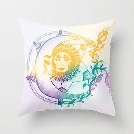 Sun, Moon and Stars Throw Pillow