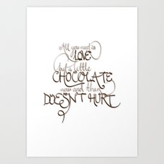 A Little Chocolate Art Print