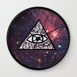 Illuminati Galaxy Wall Clock