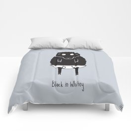 Black in Whitey Comforters