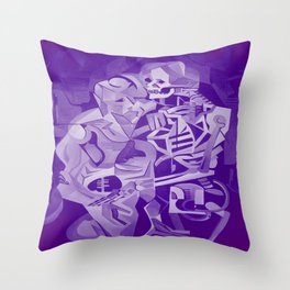 Halloween Skeleton Welcoming The Undead Throw Pillow