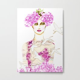 I dream in Magenta Metal Print