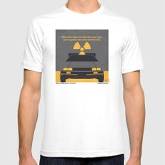 No183 My Back to the Future minimal movie poster MEDIUM Mens Fitted Tee White