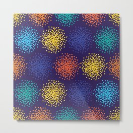 Abstract colorful dotted background Metal Print