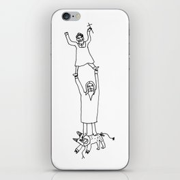 How Jesus helped me to win Satan during my first communion iPhone Skin