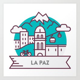 Travel: La Paz, Bolivia Art Print