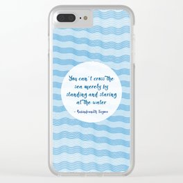 Tagore by the Sea Clear iPhone Case