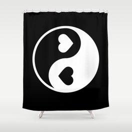 Yin Yang Black & White Shower Curtain