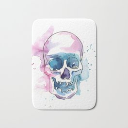 Abstract Skull Watercolor Bath Mat