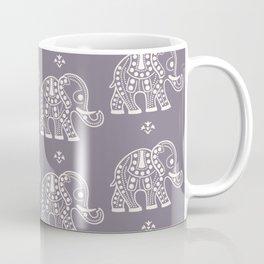 Elephant on Purple Coffee Mug
