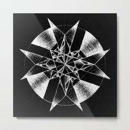 Inverted Crystalline Compass Metal Print