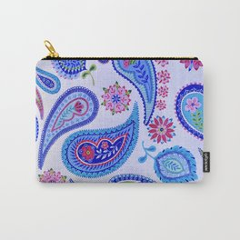 BRILLIANT BLUE PAISLEY Carry-All Pouch