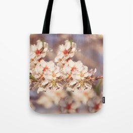 Sweet Little flowers at sunset Tote Bag
