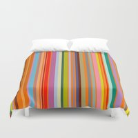 stripe Duvet Covers featuring stripe by Kurt Cyr