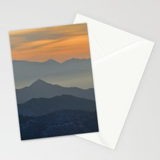 Sunset at the mountains Stationery Cards
