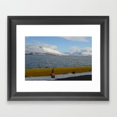 Gnome in Akureyri Framed Art Print
