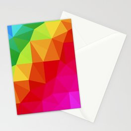 Rainbow Low Poly Stationery Cards