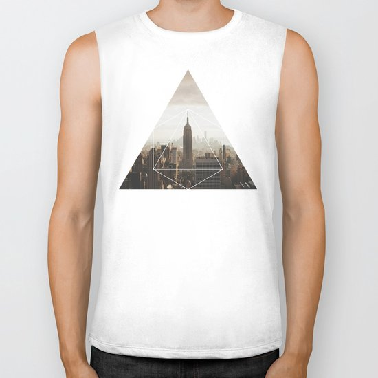 Empire State Building - Geometric Photography Biker Tank