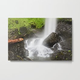 Pacific Northwest Adventure - Long Exposure Waterfall | Silver Falls Metal Print