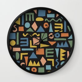Colorful Shapes Wall Clock