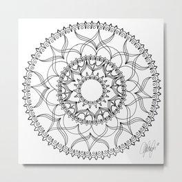 Dove Black and White Metal Print