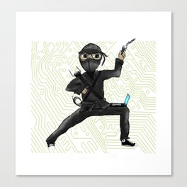 Cyber Ninja Canvas Print