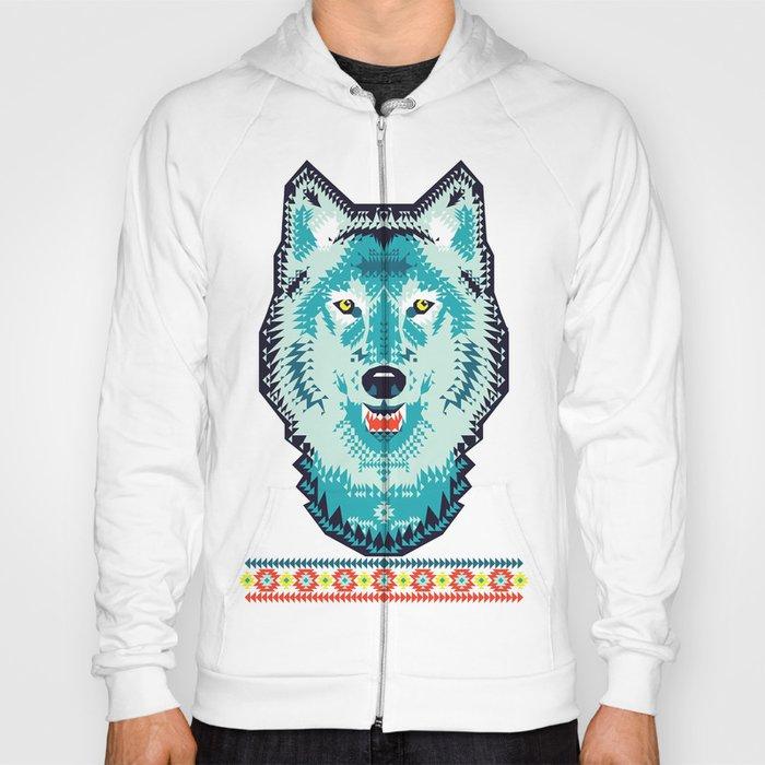 Geometric Wolf  Hoody