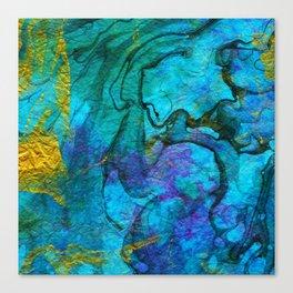 Multicolored marble ii Canvas Print