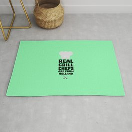 Real Grill Chefs are from Holland T-Shirt D3q61 Rug