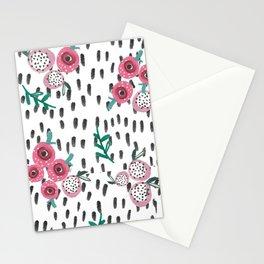Rose. Illustration, pattern, print, floral design, art, painting, flowers, flower, Stationery Cards
