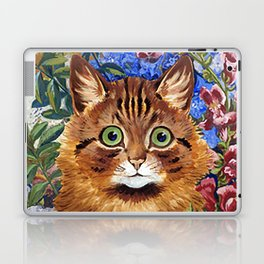 Louis Wain's Cats - Cat In the Garden Laptop & iPad Skin