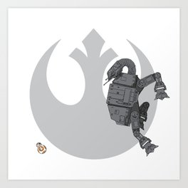 Droid Eek! (grey) Art Print
