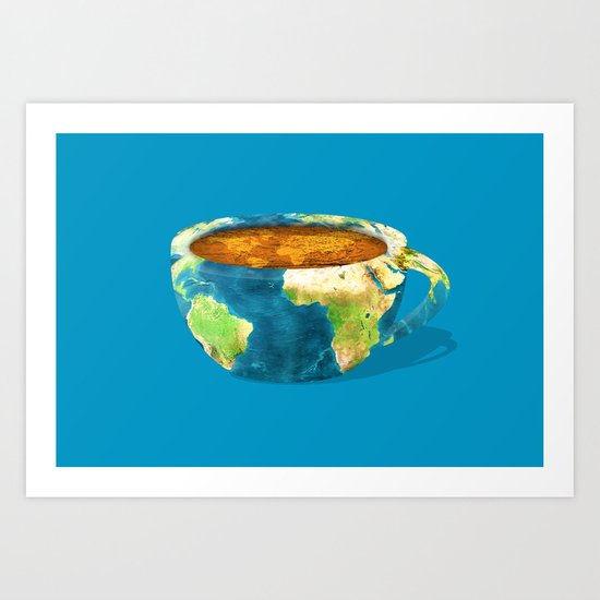 Coffee World Art Print